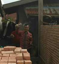Ketua DPRD Gusri Effendy Sambanggi Pengerjaan Rumah Layak Huni