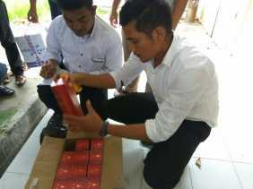 Polres Dumai,Hitung (BB) Tangkapan Miras Berjumlah 985 Kotak