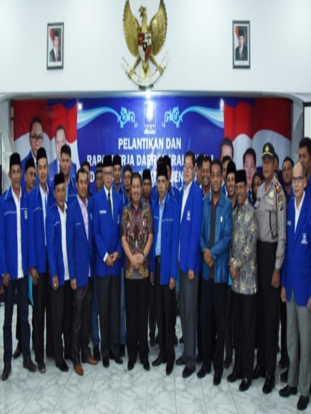 Hadiri Pelantikan Pengurus PAN, Bupati Amril: Visi PAN dan Visi Kabupaten Bengkalis Bagai Pinang Dibelah Dua
