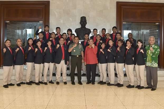 Panglima TNI : Atlet Karateka Indonesia Harus Bertarung Dengan Jiwa Ksatria